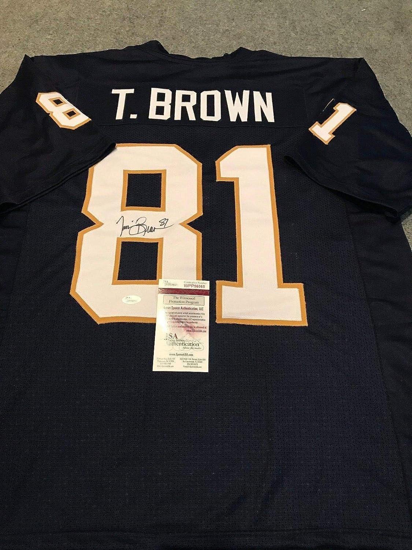 finest selection 863af e375d TIM BROWN AUTOGRAPHED SIGNED NOTRE DAME JERSEY JSA COA at ...