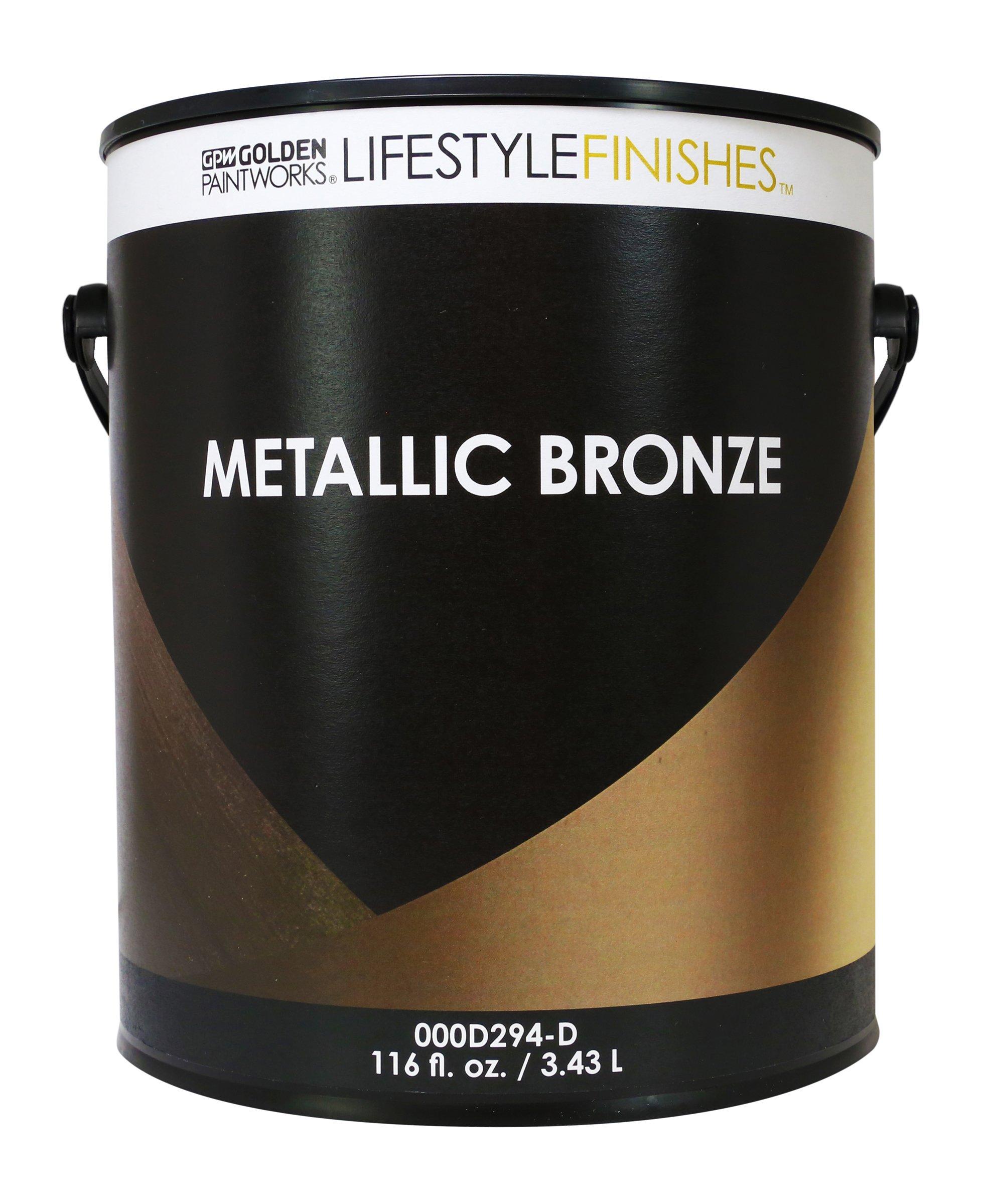 Golden Lifestyle Finishes Metallic Bronze Paint (Quart)