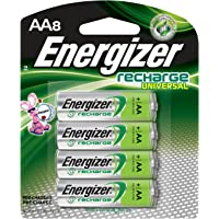 8-Count Energizer Rechargeable AA 2000 mAh Batteries