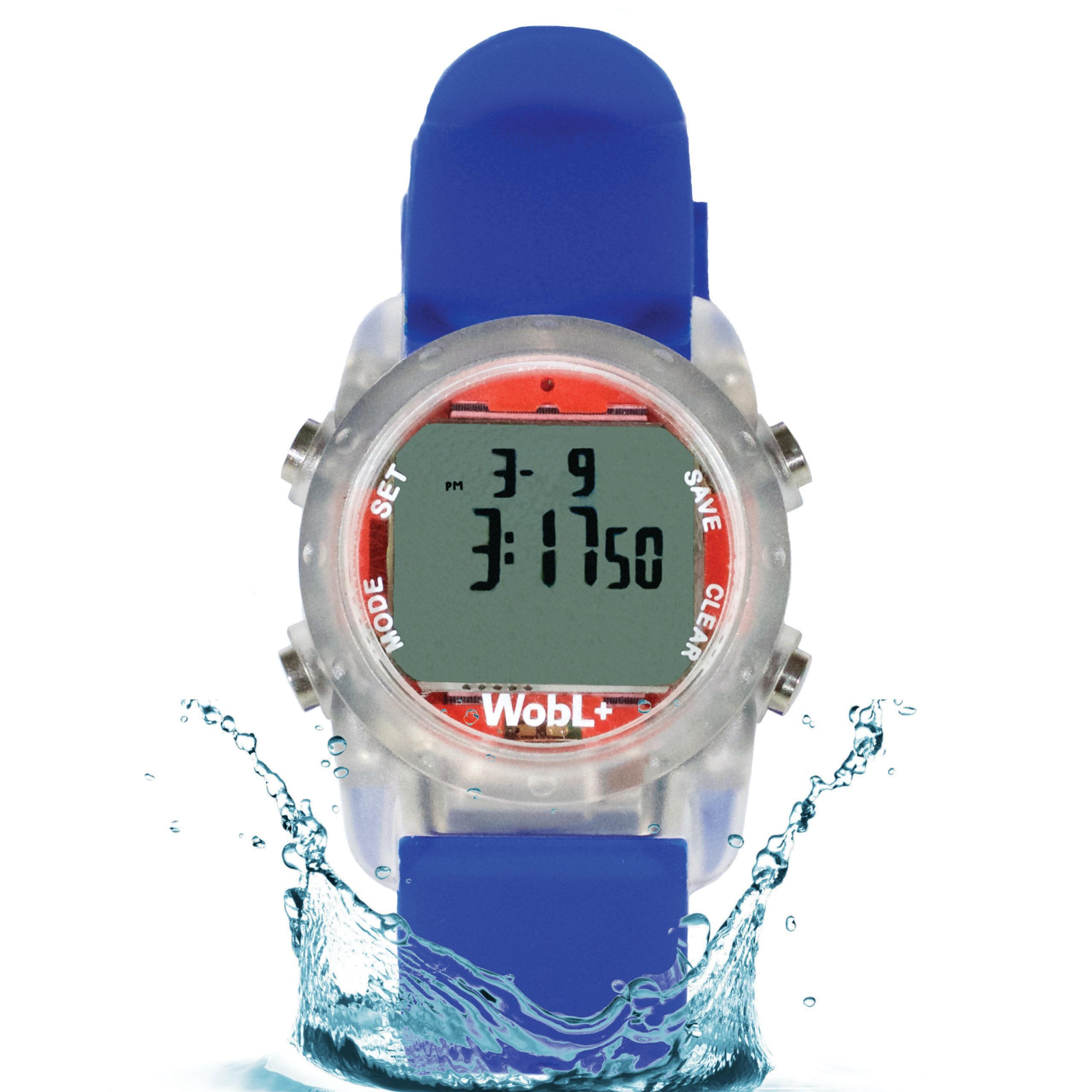 WobL+ Waterproof Vibrating Watch (Blue)