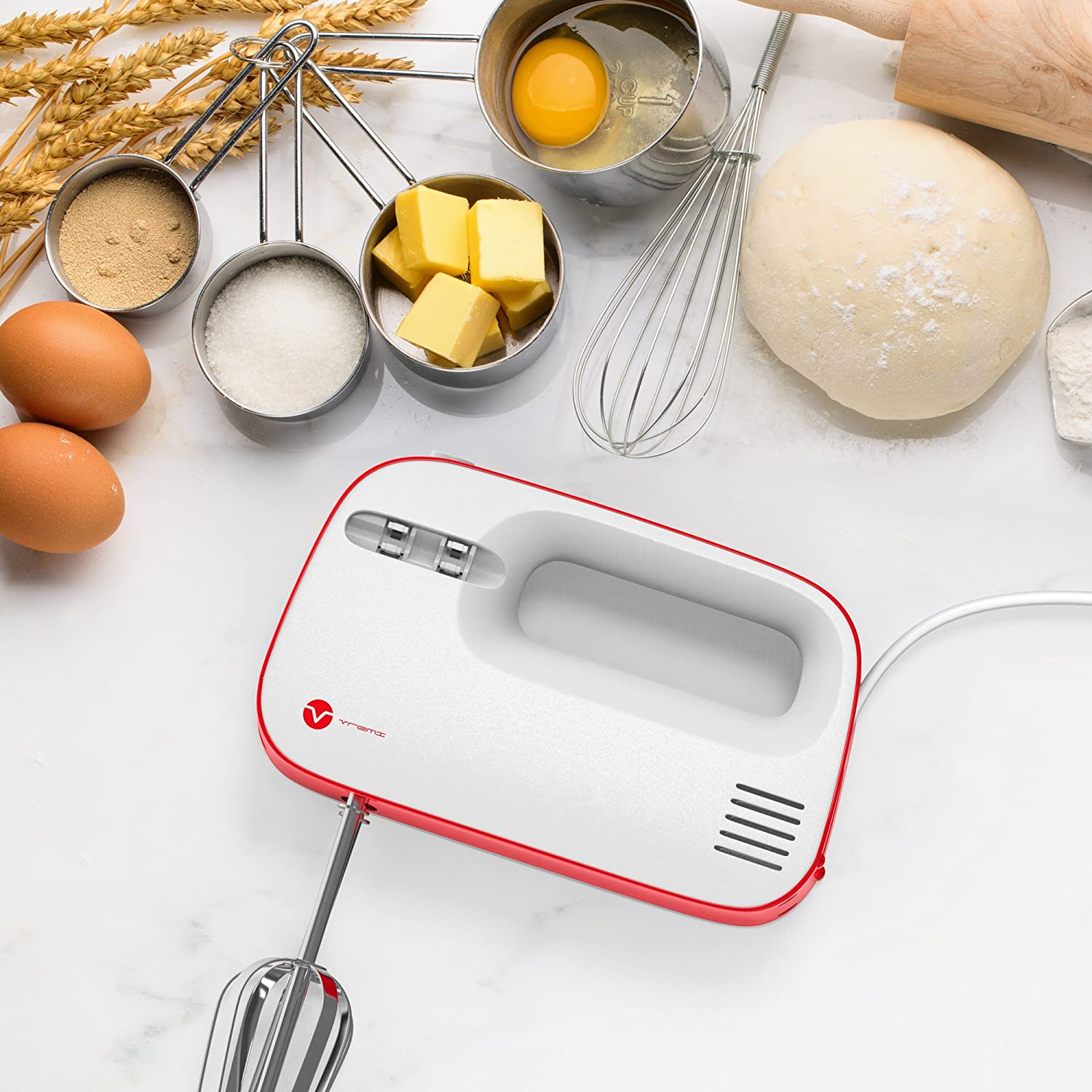 vremi electric hand mixer 3 speed with built in