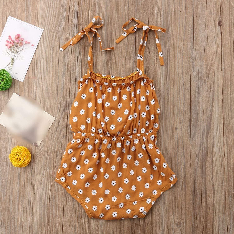 Bowknot Floral Romper Polka Dot Jumpsuit Outfits Sunsuit