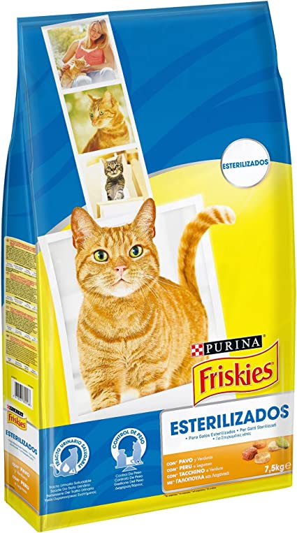 Purina Friskies Esterilizados Pienso para Gato Adulto Pavo y ...