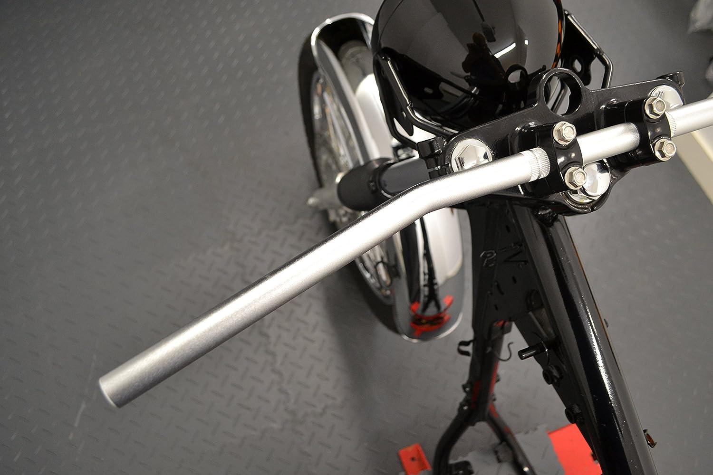 Alta Calidad Plata 7//8 22mm Arrastre Estilo Barra Manillar para Custom Moto Monitor Chopper Bobber