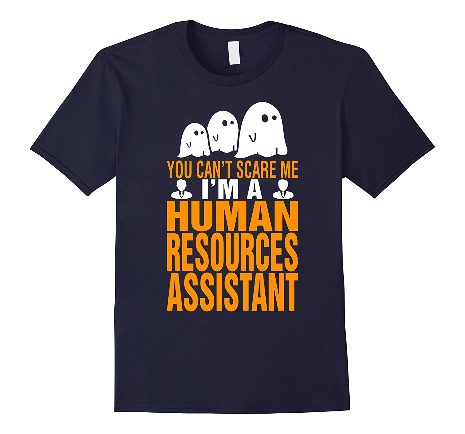 Cant Scare I Am Human Resources Assistant Halloween T Shirt-TD