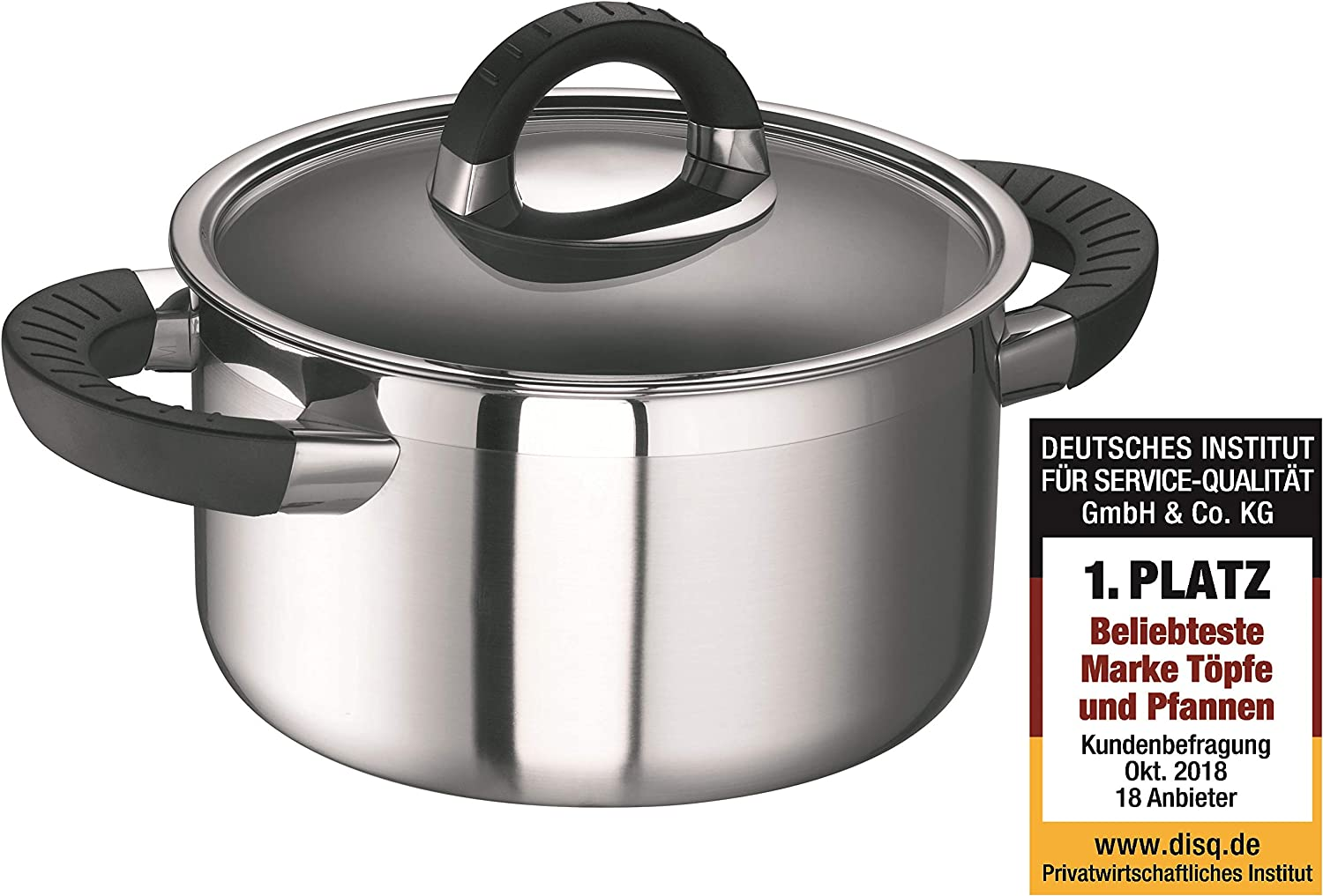 Schulte-Ufer Meat Pot Black Betty i, Stew Pot, Slow Cooker, Stainless Steel 18/10, 24 cm, 5.5 L, 6516-24 i