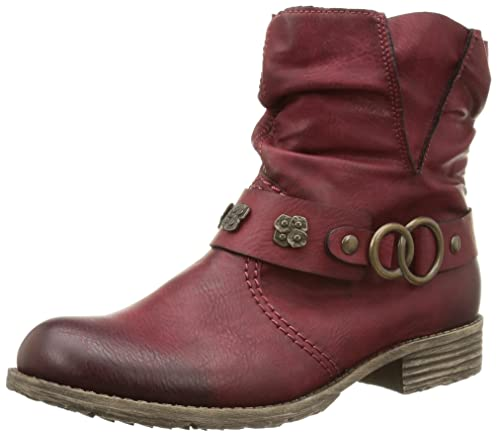 64584d1591fe Rieker New Women s Peggy 98 Boot Wine 36