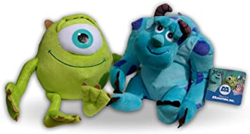 Monstruos University Pack 2x Peluche Mike Wazowski y Sulley ...