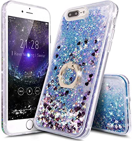 iPhone 7/8 Plus Case Girls with Stand,iPhone 8 Plus Clear ...