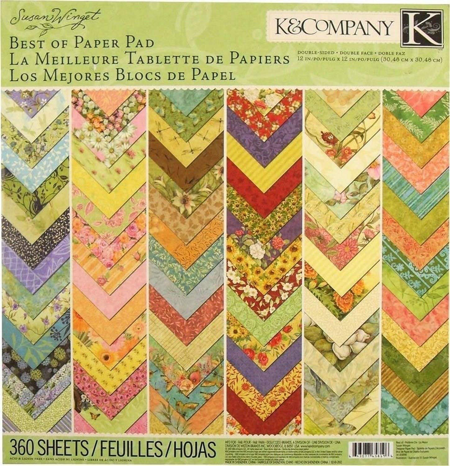 K&Company Best of Susan Winget 12'' x 12'' Specialty Paper Pad, 360 Sheets