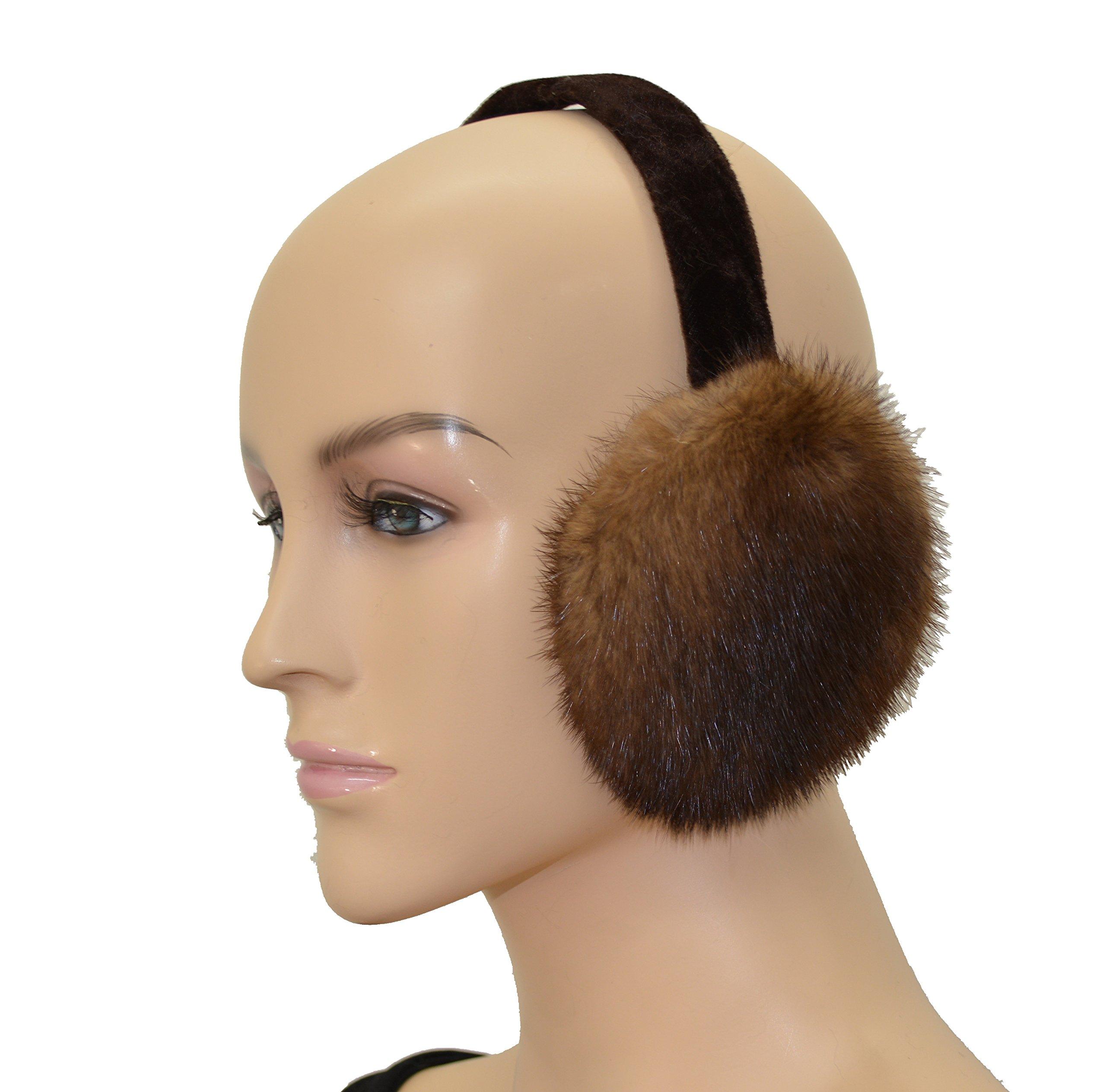 Mink Fur Ear Muff (Light Brown)