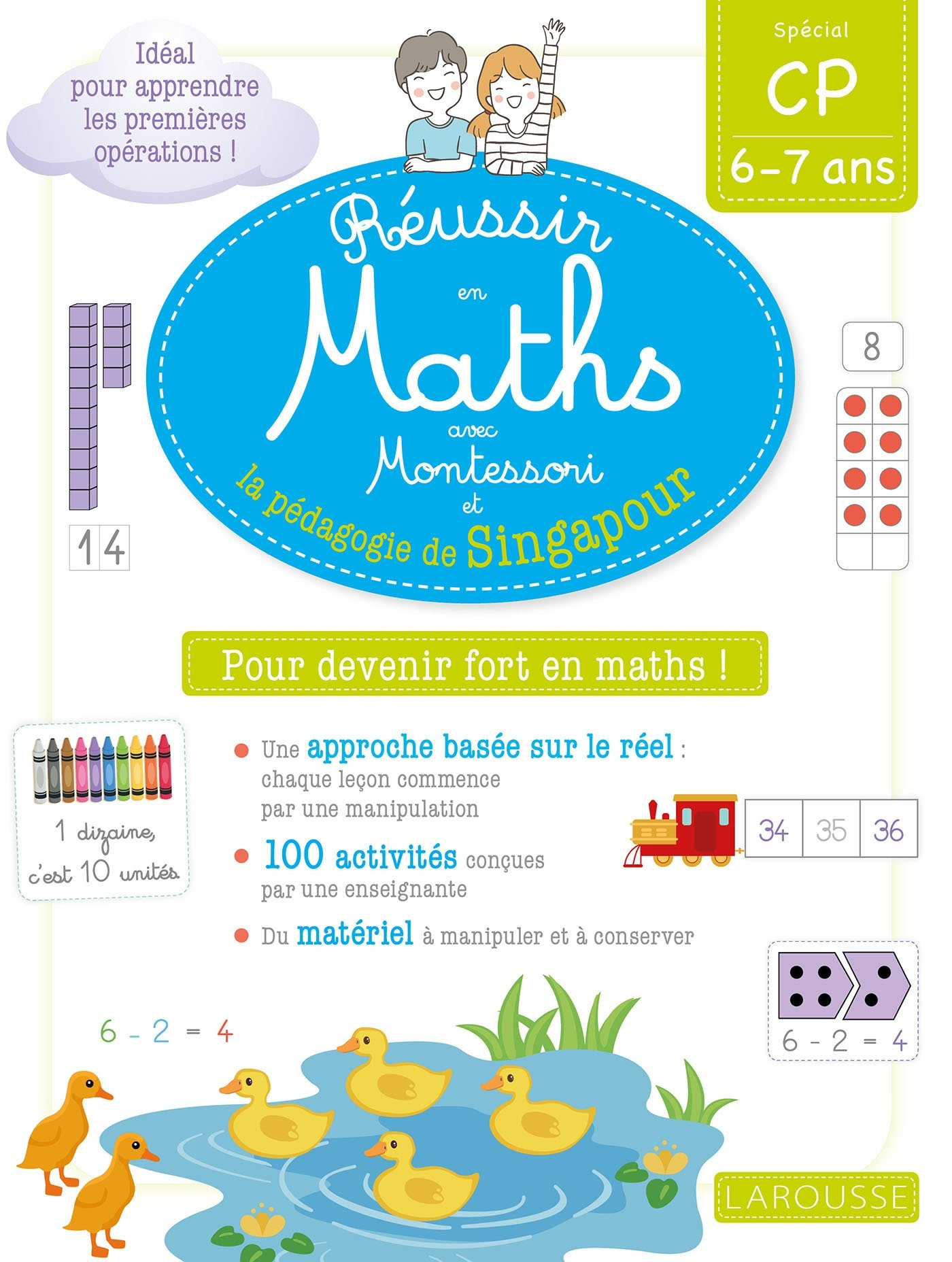 Réussir en maths avec Montessori et la pédagogie de Singapour CP
