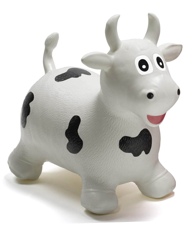 HappyHopperz - HHZ20 - Jouet de Premier Age - Taureau - Blanc - 18 mois à 5 ans Jouet d' eveil