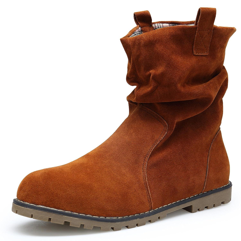 Boots 19018 Suède Koudyen Chaussures Hiver Femme Bottes Flattie qA8IcFz6Uw