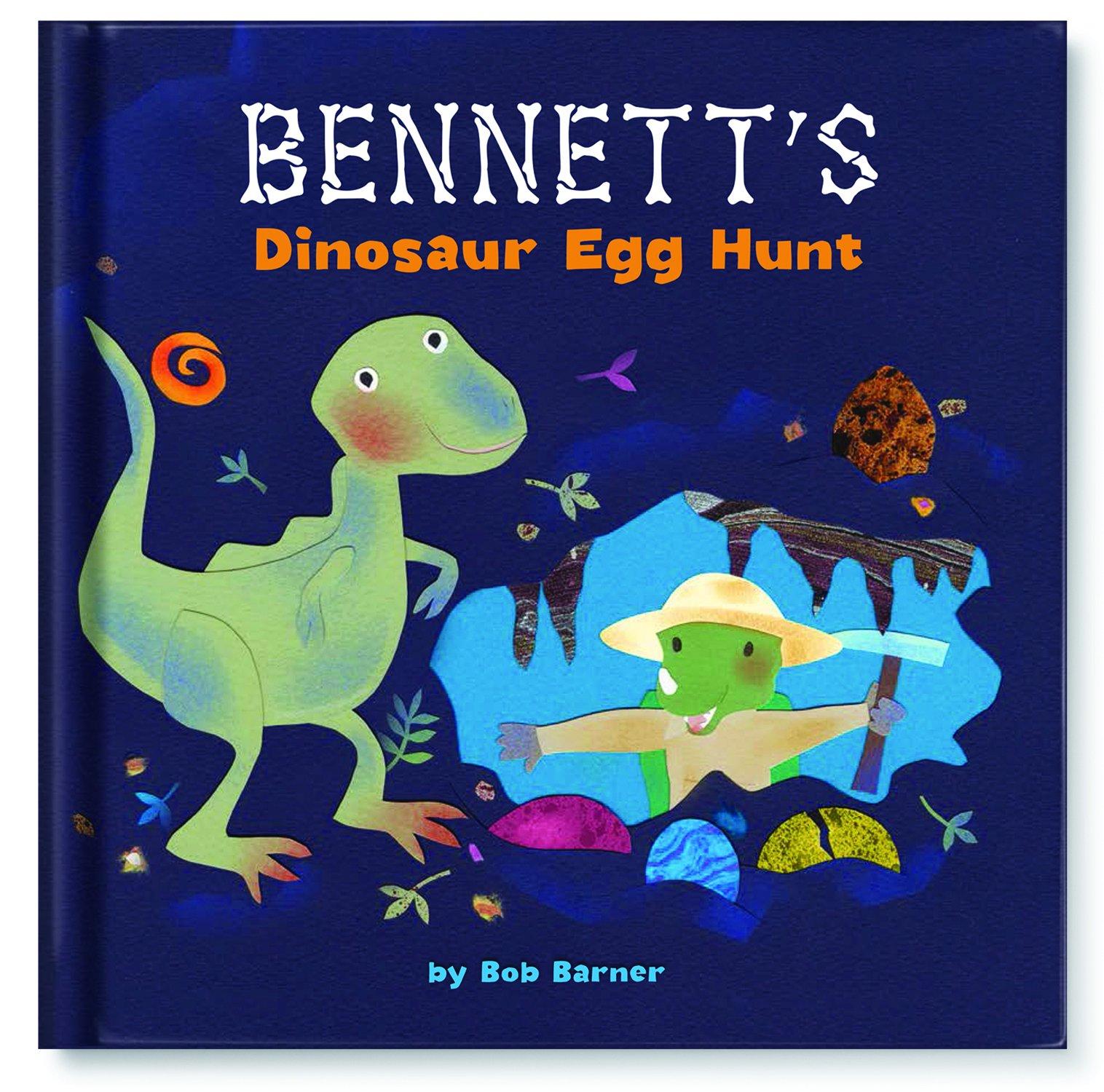 Dinosaur Exploration Personalized Custom Name Book for Kids Children Boys Girls: Dino Fun Educational