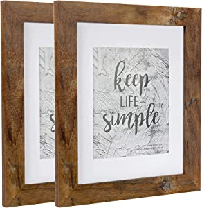 kennethan Rotten Brown 8x10 inch Picture Frame Wide Molding - Wall Mounting Material Included