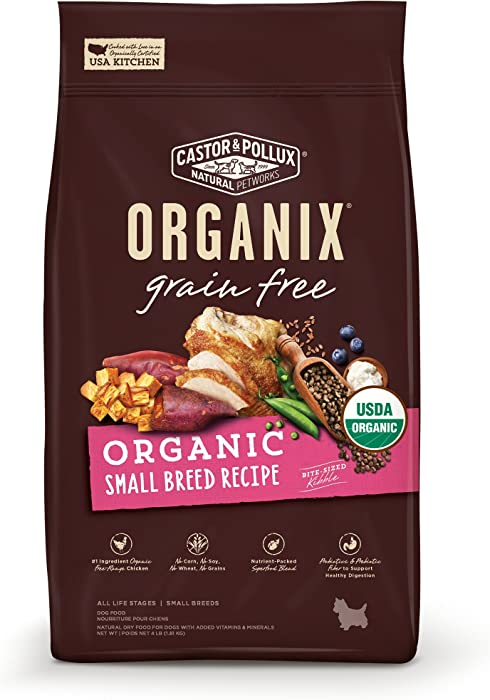 Castor & Pollux Organix Grain Free Organic Small Breed Recipe Recipe Dry Dog Food