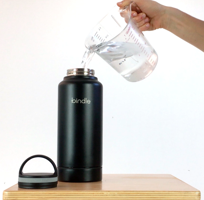 Sports Bottle With Storage Compartment: Bindle Bottle 24oz Stainless Steel Vacuum Insulated Water