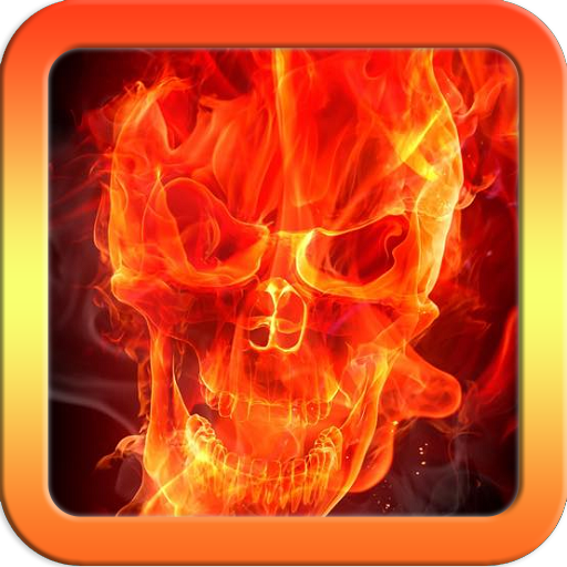 Skull Icon - Fire Skull Keyboard Theme Free Themes Backgrounds Wallpapers Icons Decor Customization