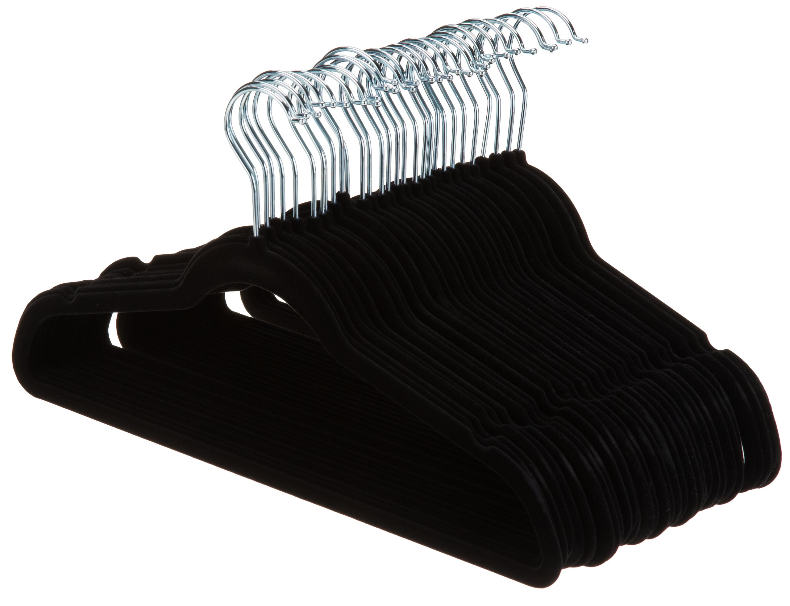 AmazonBasics Velvet Suit Hangers - 30-Pack, Black