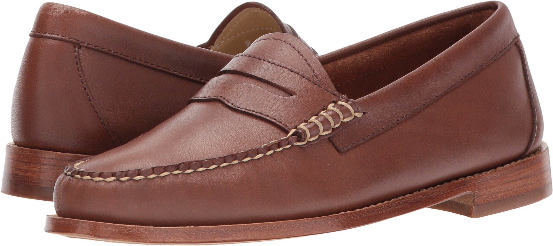 G.H. Bass & Co. Women's Whitney Penny Loafer, Brown 902, 8 M US