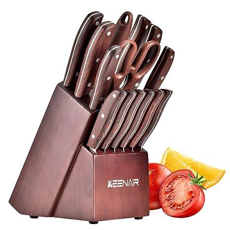 Amazon.com: Keenair - Juego de cuchillos de cocina de 15 ...