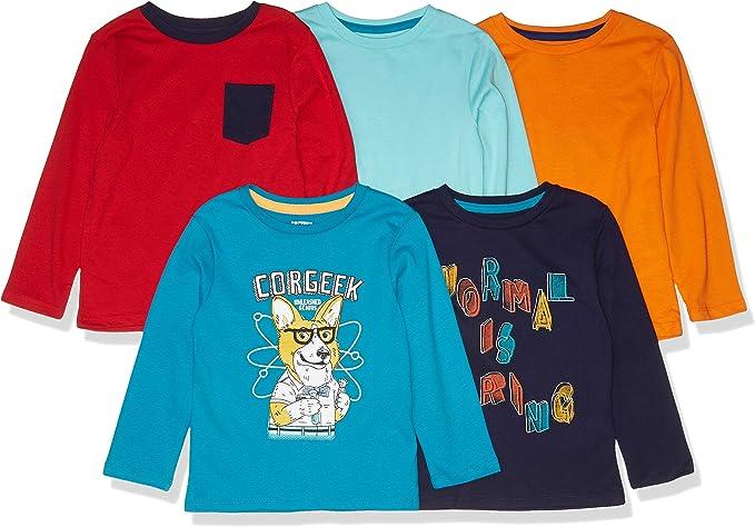 Marca Amazon - Spotted Zebra - Pack de 5 camisetas de manga larga ...