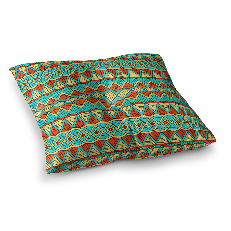 Kess InHouse Pom Graphic Design Tribal Soul Square Floor Pillow 23 x 23