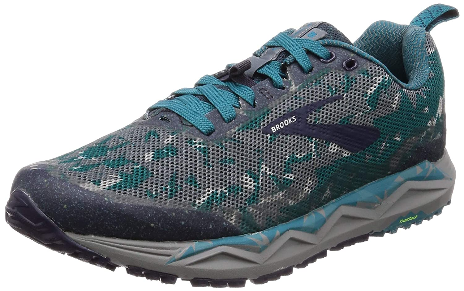 bluee Grey Navy Brooks Men's Caldera 3 Trail Running shoes