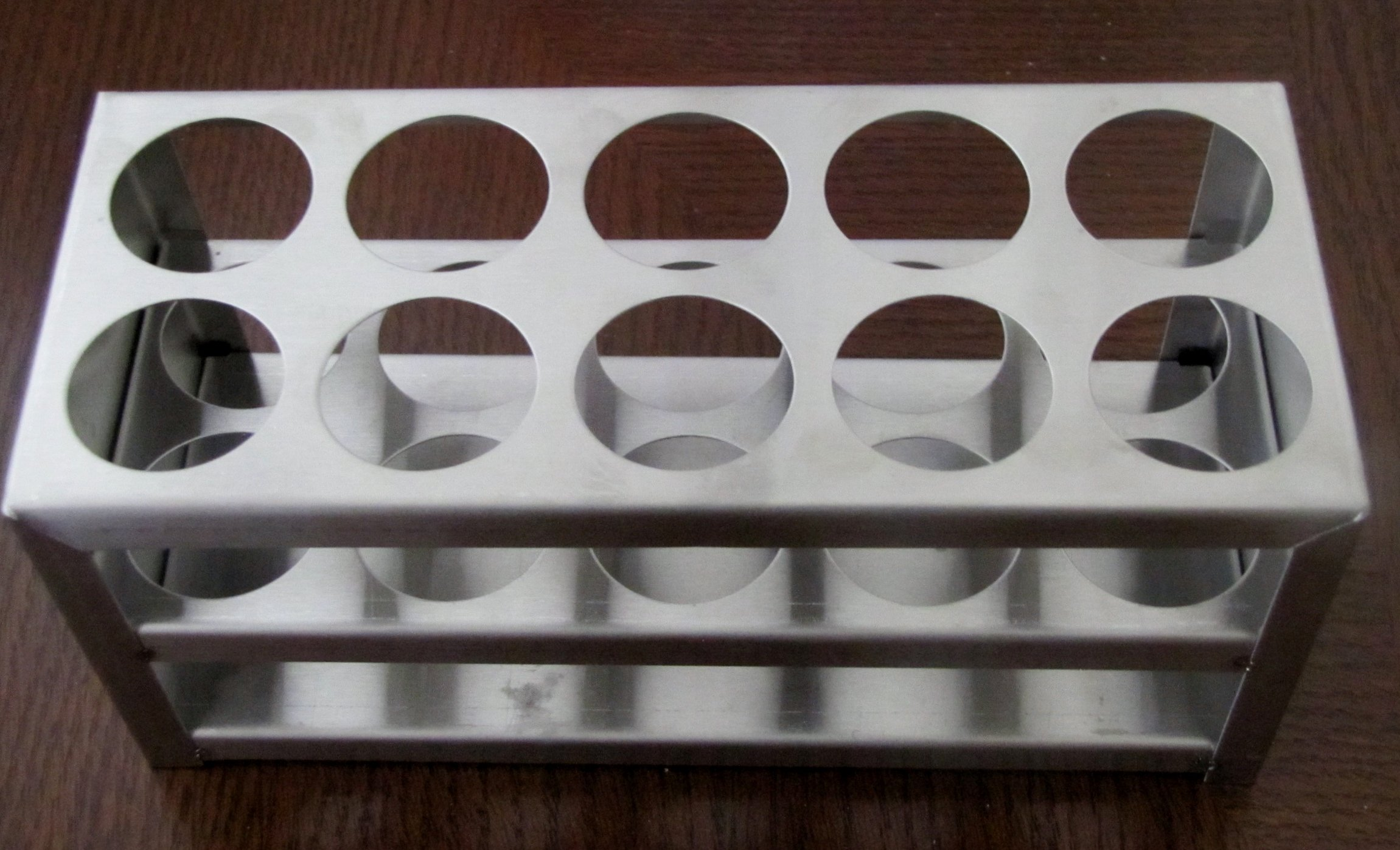 Stainless Steel Test Tube Rack, 10 Holes, 30 Mm (1 1/8''), 50 Ml