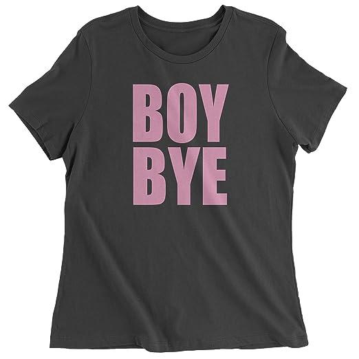 1616e7af Amazon.com: Expression Tees Boy Bye Pink Lemonade Womens T-Shirt: Clothing