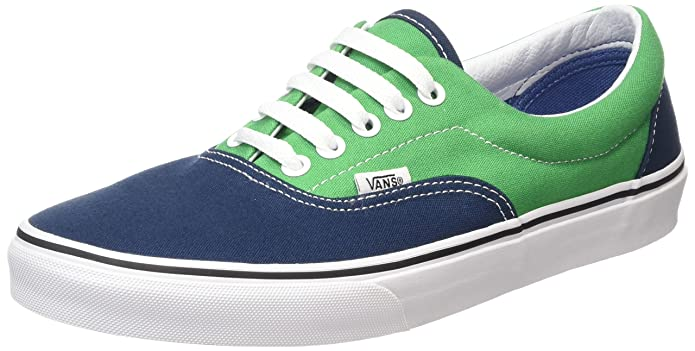 Vans Era Unisex-Erwachsene Low-Top Sneakers Blau Grün Dress Blues/Kelly Green
