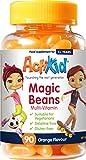 ActiKid Magic Beans Multi-Vitamin 90x Orange Flavour, Gelatine Free, Vitamins for Kids