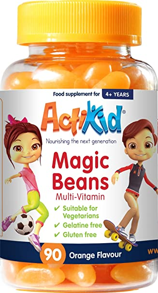 ActiKid Magic Beans Multi-Vitamin 90x Orange Flavour: Amazon.es: Salud y cuidado personal