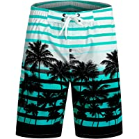 APTRO Men's Swim Shorts Quick Dry Palm Tree Trunks Bathing Suit
