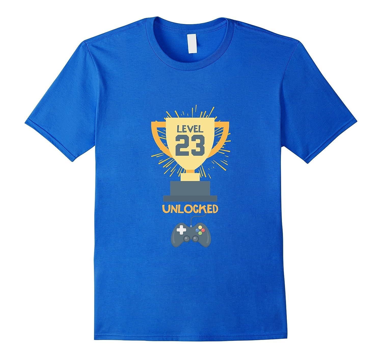 23rd Birthday Shirt Gift 23 Year Old Level Up Gamer Tshirt-T-Shirt