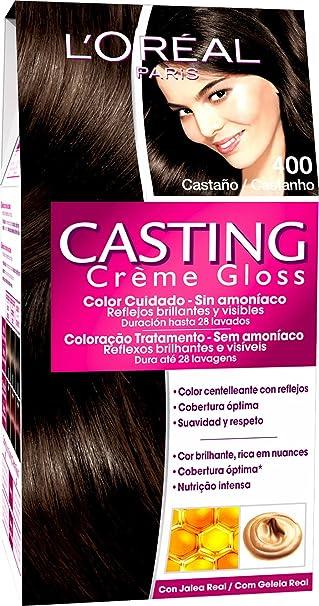 LOreal Paris Casting Crème Gloss, Crema Colorante sin Amoniaco, Castaño 400