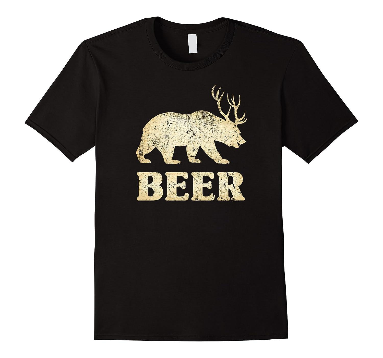 Vintage Bear Deer Beer T-shirt-CD