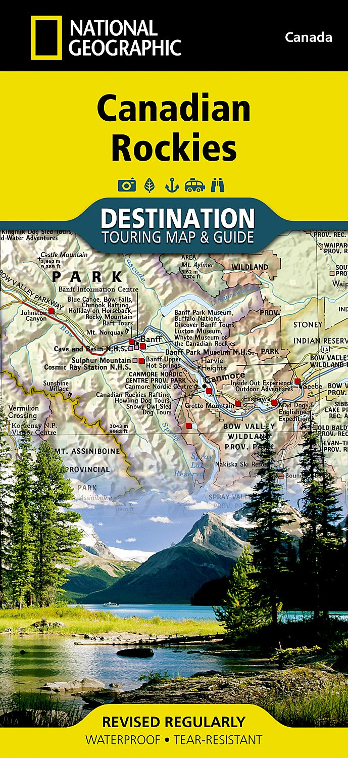 Canadian Rockies Destination Map: Amazon.co.uk: National Geographic on