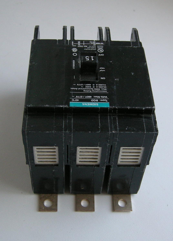 Siemens BQD315 15-Amp Three Pole 480Y//277V AC 14KAIC Bolt in Breaker Siemens HI