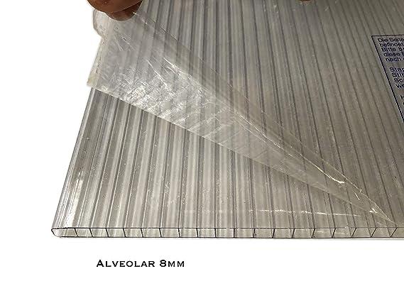 LEXAN® - Placas de Policarbonato Alveolar Celular - 8mm - Protección UV - Para Exteriores - Elige Medidas: (100 x 190 cm - Pack de 6, Transparente): Amazon.es: Bricolaje y herramientas