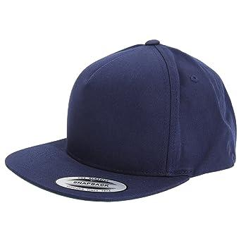 Yupoong - Gorra /Visera Estilo Snapback 5 panales Modelo Flexfit Unisex Hombre/Mujer (Talla Única/Azul marino): Amazon.es: Ropa y accesorios
