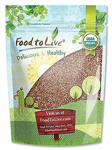 Organic Radish Seeds, 3 Pounds - Seeds for Sprouting, Non-GMO, Kosher, Raw, Vegan, Bulk