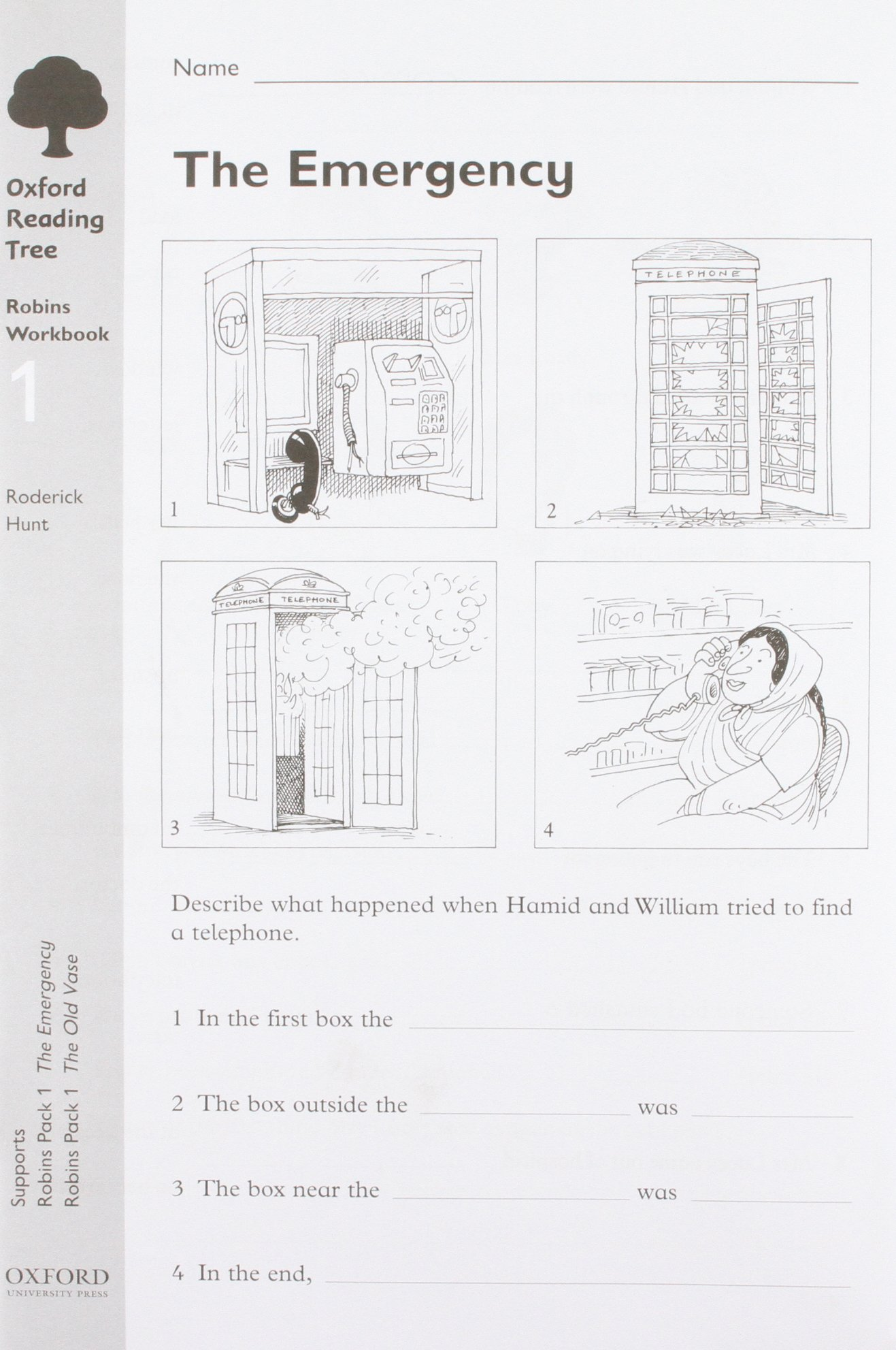 Read Online Oxford Reading Tree: Stage 6-10: Robins: Workbook 1: the Emergency and the Old Vase (Pack of 30) pdf