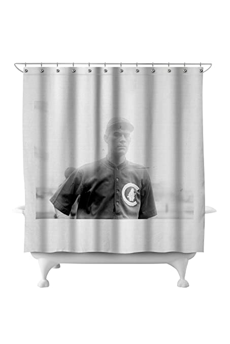 Jimmy Lavender Chicago Cubs Baseball Photo 1 71x74 Polyester Shower Curtain