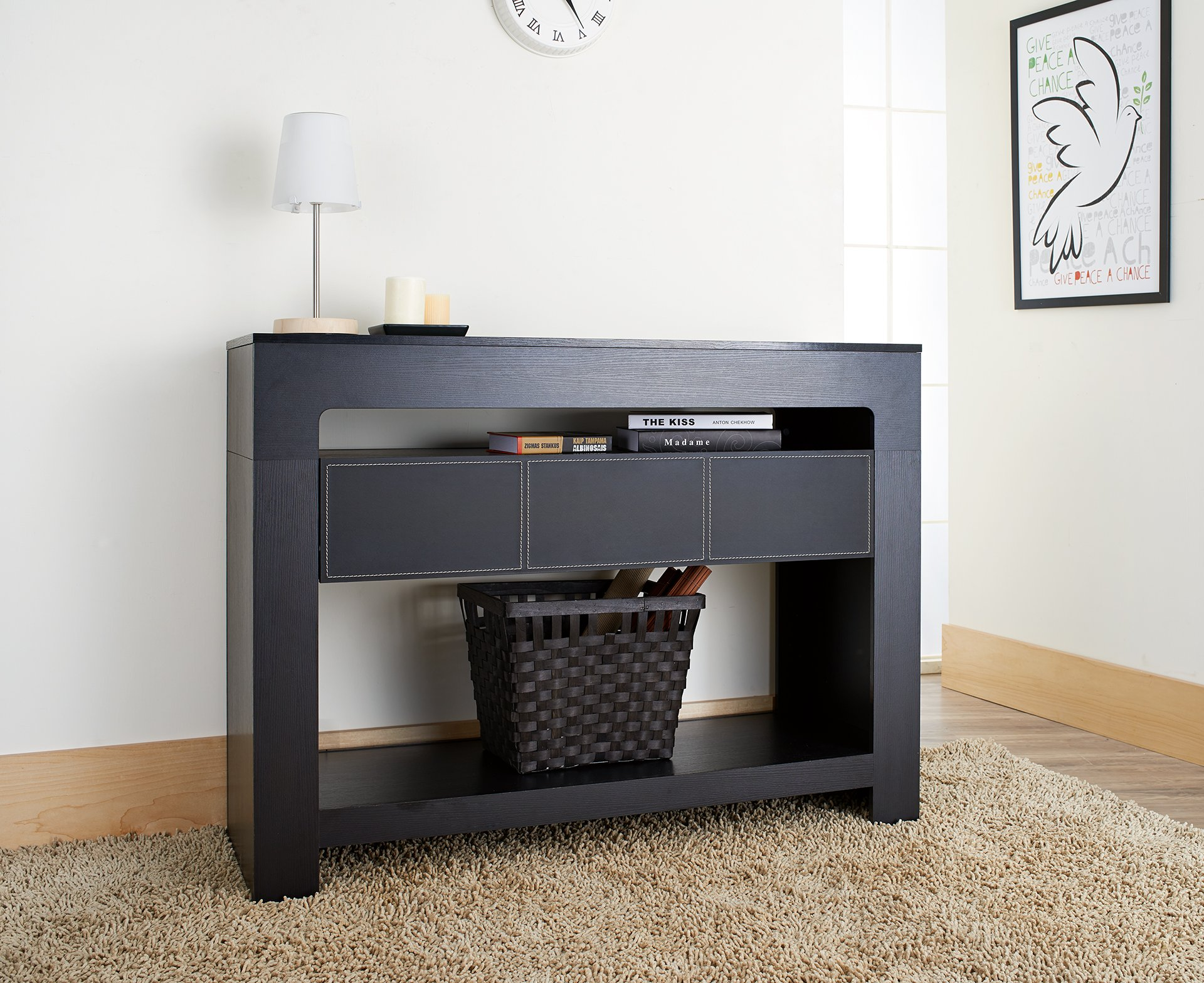 ioHOMES Lado Contemporary Console Table, Black by HOMES: Inside + Out (Image #3)