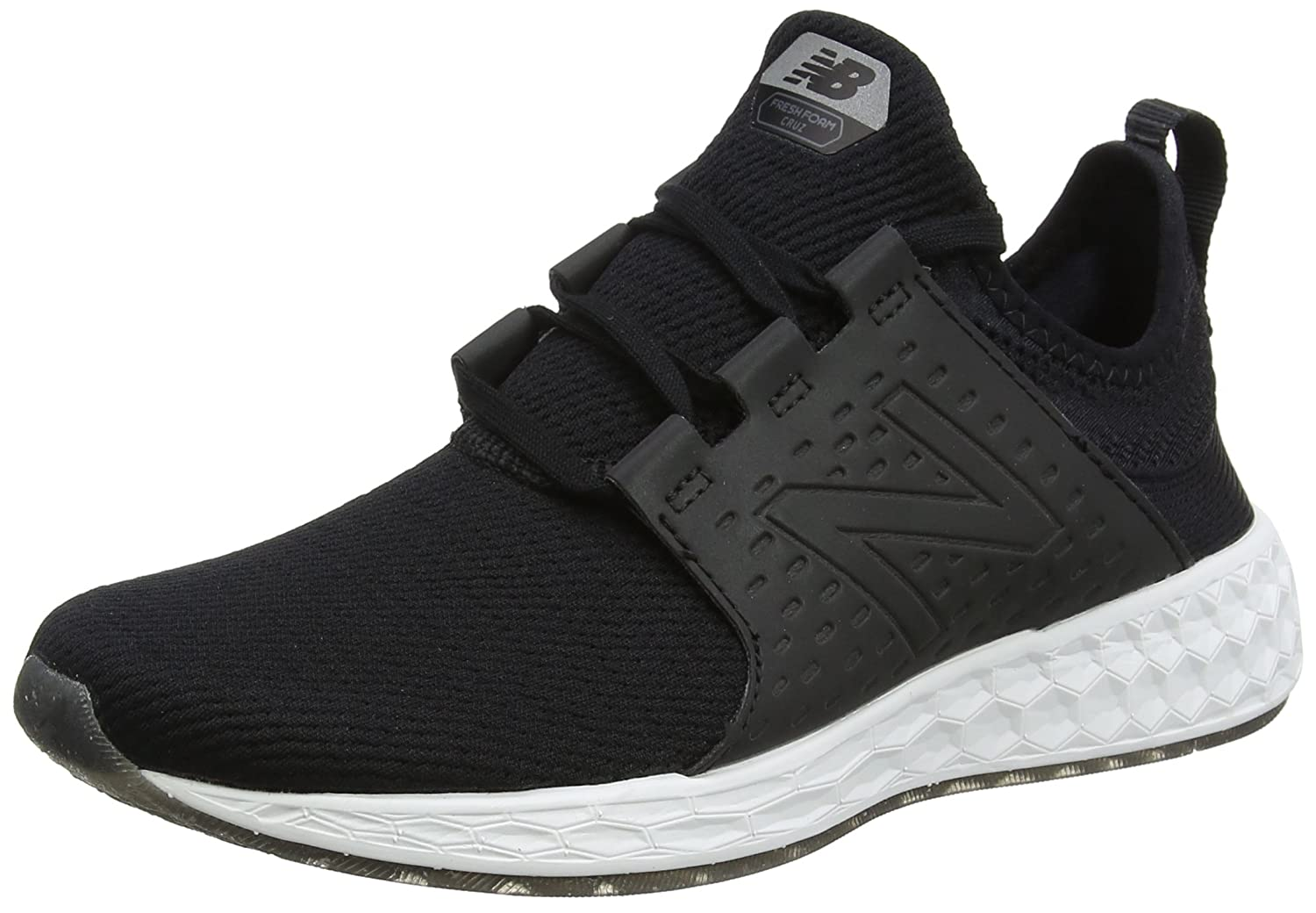 New Balance Women's Fresh Foam Cruz V1 Retro Hoodie Running Shoe B0751F8DDX 7.5 D US|black