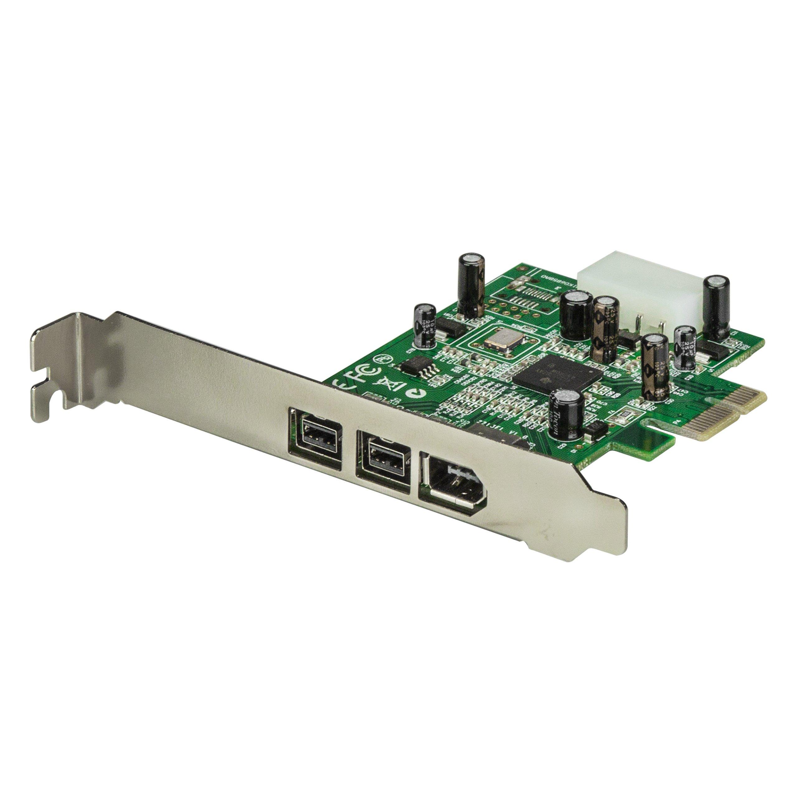 StarTech.com 3 Port 2b 1a 1394 PCI Express FireWire Card Adapter - 1394 FW PCIe FireWire 800 / 400 Card (PEX1394B3) by StarTech