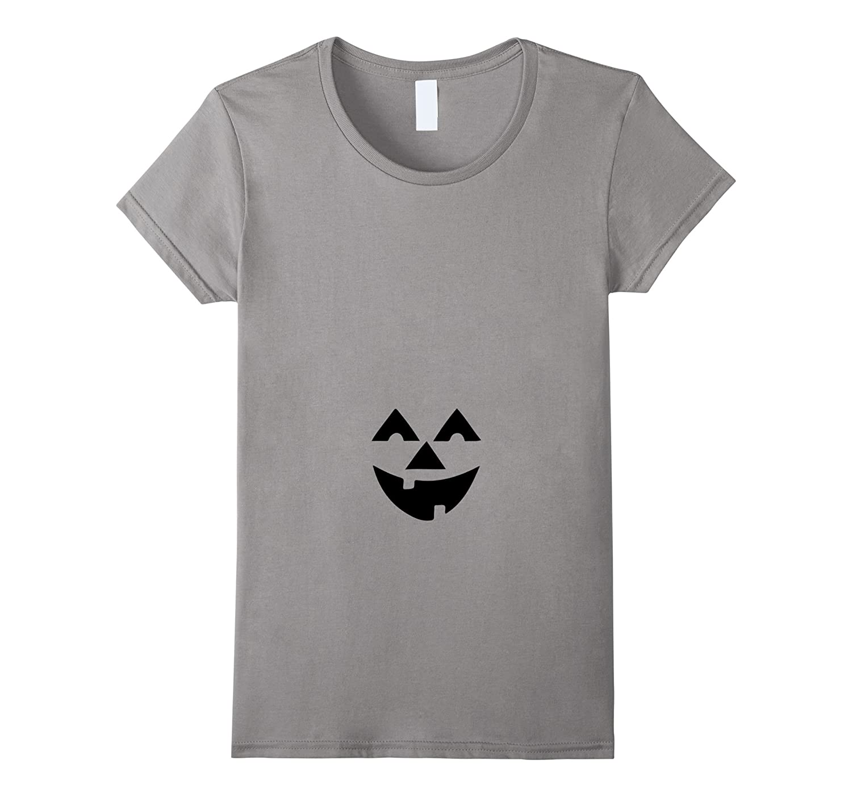 Womens Women's Jack O' Lantern Pumpkin Halloween Pregnancy T-Shirt-T-Shirt