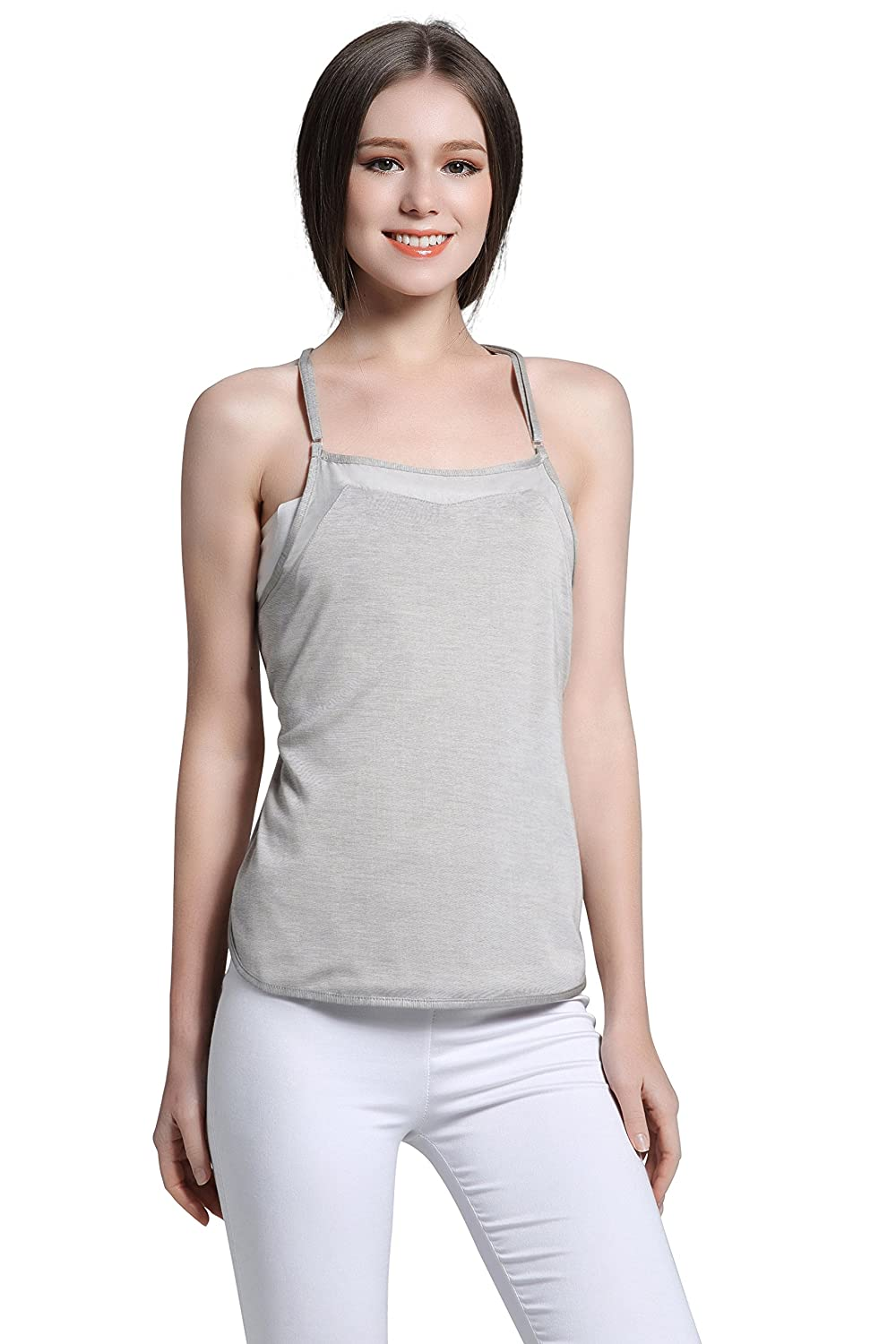 00401a8c11370 JOYNCLEON Anti-Radiation Maternity Tank-Top Belly Protective Shield  Double-Layer Silver Fiber Clothes for Pregnant Women at Amazon Women's  Clothing store:
